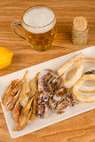 Fish tapa and beer Royalty Free Stock Images