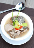Fish and taro soup Royalty Free Stock Image