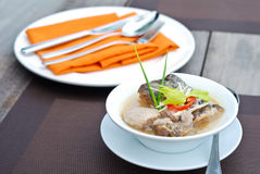 Fish and taro soup Royalty Free Stock Images