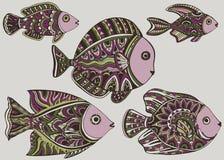 Fish_tattoo 皇族释放例证