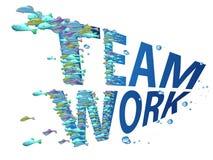 Fish teamwork Stock Image