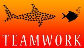 Fish teamwork Royalty Free Stock Image