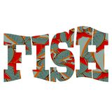 Fish Text Isolatted. Fish Pattern Text Isolatted on White Background Stock Photos