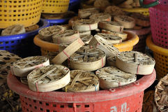 Fish Thailand Bamboo Basket Empty Stock Image