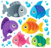 Fish theme collection 1. Eps10 vector illustration Stock Photos