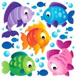 Fish theme collection 2 Royalty Free Stock Photography