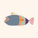 Fish theme elements vector,eps Stock Image