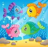 Fish theme image 1. Vector illustration Royalty Free Stock Images