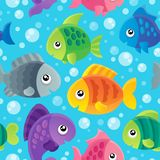 Fish theme seamless background 1 Royalty Free Stock Image