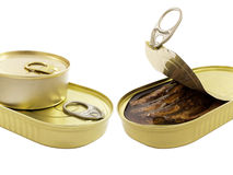 Fish tin cans Stock Image