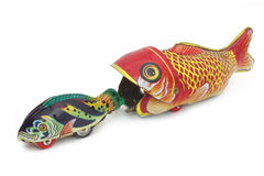 Fish tin toy on white background Stock Photography