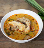 Fish tom yum. With herb Stock Photography