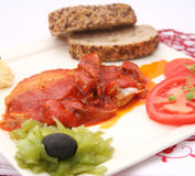 Fish in tomato sauce Royalty Free Stock Photography