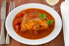 Fish with tomato sauce Stock Image