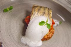 Fish with tomatoes Stock Photography