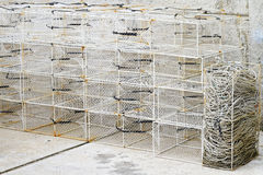 Fish trap cages Stock Photo