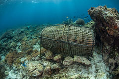 Fish Trap in Indonesia Royalty Free Stock Images