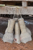 Fish trap. Instruments used to trap fish farmers of asian royalty free stock photography