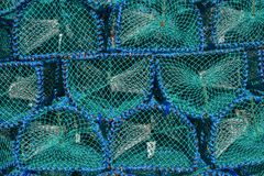 Fish trap for lobster and crab fishing on Isle of Mull, abstract pattern, background, Scotland royalty free stock photo
