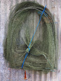 Fish trap made from net for fisherman Royalty Free Stock Photos