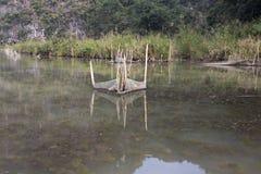 Fish trap in Vietnam stock photos