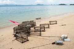 Fish traps Royalty Free Stock Photography