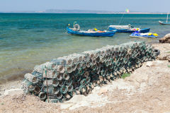 Fish traps Royalty Free Stock Images