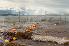 Fish traps in Groensund Stock Photos