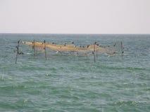 Fish traps. In the sea. Shot from Marea Neagra, Black Sea Royalty Free Stock Photo