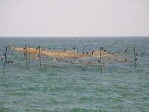 Fish traps. In the sea. Shot from Marea Neagra, Black Sea Stock Image