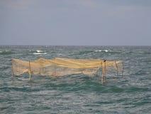 Fish traps. In the sea. Shot from Marea Neagra, Black Sea Stock Photography