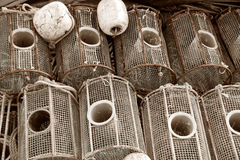 Fish traps Royalty Free Stock Image