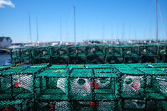 Fish traps in summer sun. In Denmark Stock Images