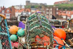 Fish traps in Whitby, North Yorkshire, UK Royalty Free Stock Photos