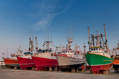 Fish trawler on land Stock Photography