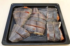 Fish on a tray Stock Photo