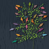 Fish tree abstract colorful Royalty Free Stock Photo