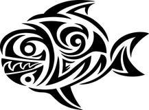 Fish tribal. Art  design Stock Photos