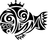 Fish tribal. Art  design Royalty Free Stock Photography