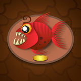 Fish trophy hanging on the board. Royalty Free Stock Images