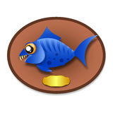 Fish trophy hanging on the board. Stock Images