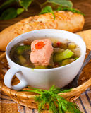Fish a trout soup Royalty Free Stock Image