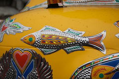 Fish in Truck art. Truck paintingis a popular form of indigenous art inAfghanistan,Pakistan,India, and otherSouth Asiancountries, featuring floral Stock Photography