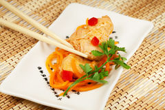 Fish under east recipe Stock Images