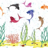 Fish underwater background Royalty Free Stock Photography