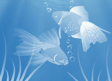 Fish underwater, Illustration. Royalty Free Stock Images