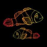 Fish  underwater sea ocean illustration marine Royalty Free Stock Photography
