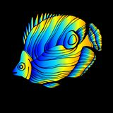 Fish  underwater sea ocean illustration marine. Fish  underwater sea ocean illustration Royalty Free Stock Image