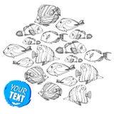 Fish  underwater sea ocean illustration marine Stock Photos