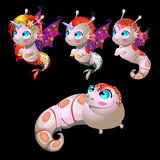 Fish unicorns, male and female characters Stock Image